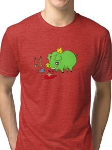 poor angry birds Tri-blend T-Shirt