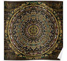 Wat Pho buddist temple art spherical mandala Poster