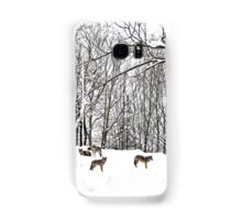 A winter scene - with Coyotes  Samsung Galaxy Case/Skin