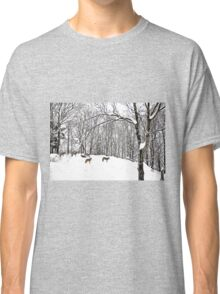 A winter scene - with Coyotes  Classic T-Shirt