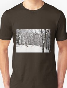 A winter scene - with Coyotes  T-Shirt