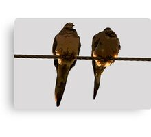2 Turtle Doves Canvas Print