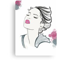 Girl Cartoon Face Canvas Print