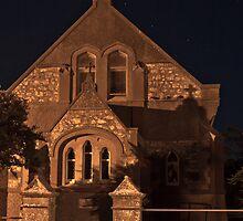 Minlaton Catholic Church at Night by pablosvista2