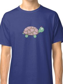 Cute Turtle with hearts and pink ribbon Classic T-Shirt