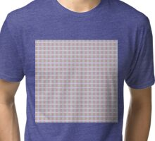 Striped patten in pink, grey and blue Tri-blend T-Shirt