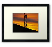 Chimes in silhouette Framed Print