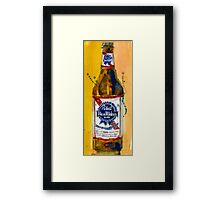 Pabst Blue Ribbon Beer Bottle Framed Print