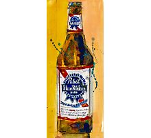 Pabst Blue Ribbon Beer Bottle Photographic Print