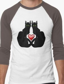 LOVE CATS Men's Baseball ¾ T-Shirt
