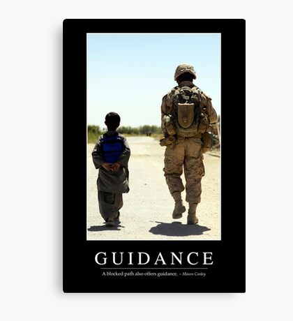 Guidance: Inspirational Quote and Motivational Poster Canvas Print
