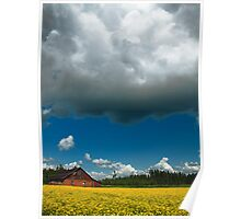 Countryside cloud with nice summer sun. Poster