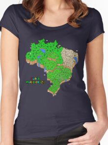 Super Mario Brazil Women's Fitted Scoop T-Shirt