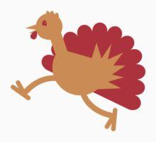 A Turkey bird RUNNING! Baby Tee