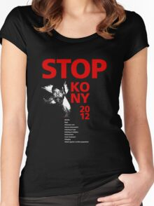 STOP KONY 2012 Women's Fitted Scoop T-Shirt