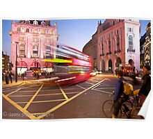 London Piccadilly circus at night Poster