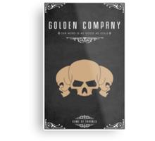 Golden Company Metal Print