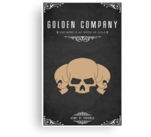 Golden Company Canvas Print