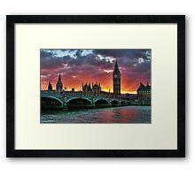 Houses of prliement London Framed Print