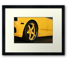 NOVATEC FERRARI 360 MODENA GOLDEN HOUR REAR  Framed Print