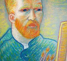 pastel portrait of the Master Vincent Van Gogh by karina73020