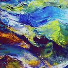 Turbulent Stream Abstract by Robert Zunikoff