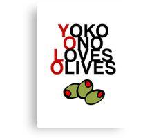 YOLO (Yoko Ono Loves Olives) Canvas Print