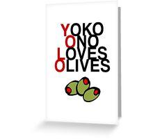 YOLO (Yoko Ono Loves Olives) Greeting Card