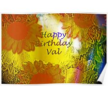 Happy Birthday Val! Poster