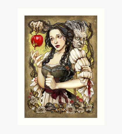 Snow White and the Poisoned Apple Art Print