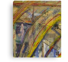 curved paper Canvas Print