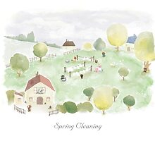 Spring Cleaning (calendar version) by LittleCloudShop
