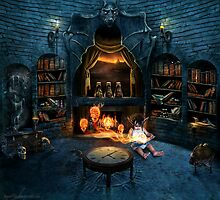 Forbidden library by MadameThenadier