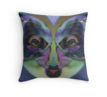 Perception - Expressionism Digigraph by L. R. Emerson II Throw Pillow