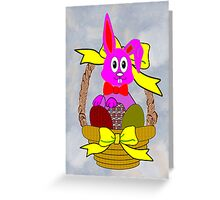 Bunny in a Basket Greeting Card Greeting Card