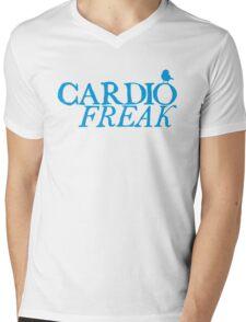 Cardio Freak - Cyan Mens V-Neck T-Shirt
