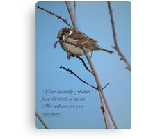 Your Heavenly Father Feeds the Birds Metal Print