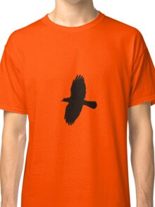 Jackdaw In Flight Silhouette Classic T-Shirt