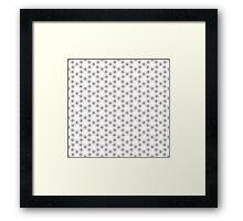Geometric pattern with grey circles Framed Print