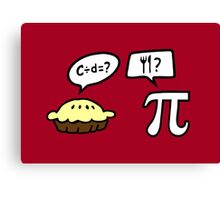 Pie and Pi Canvas Print