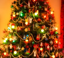 Sixties Christmas Tree Living Room Sticker