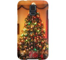 Sixties Christmas Tree Living Room Samsung Galaxy Case/Skin