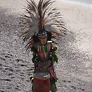 Aztec Drummer at the Beach by PtoVallartaMex
