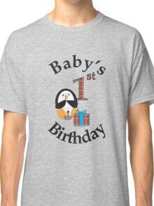 Baby's 1st Birthday Penguin Classic T-Shirt