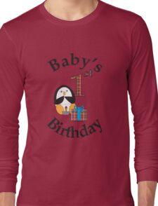 Baby's 1st Birthday Penguin Long Sleeve T-Shirt