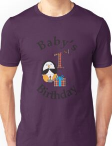 Baby's 1st Birthday Penguin Unisex T-Shirt