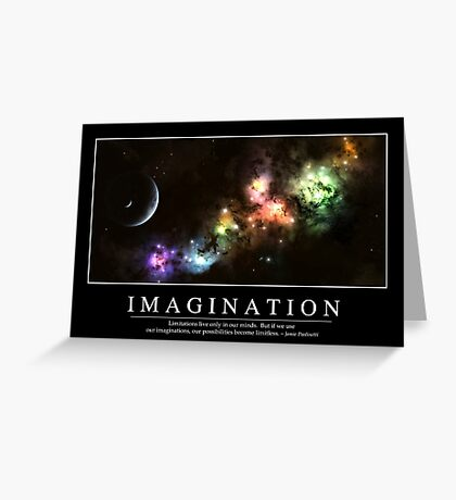 Imagination: Inspirational Quote and Motivational Poster Greeting Card
