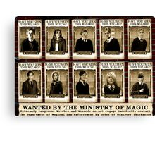 Harry Potter wanted Canvas Print
