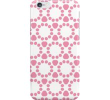 Geometric abstract pattern in pink and white iPhone Case/Skin