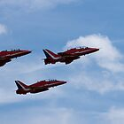 Three of the nine Red Arrows by LorrieBee
